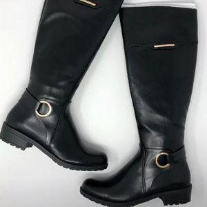 ALFANI Jadah Tall Black Boots Extended/ Wide Calf